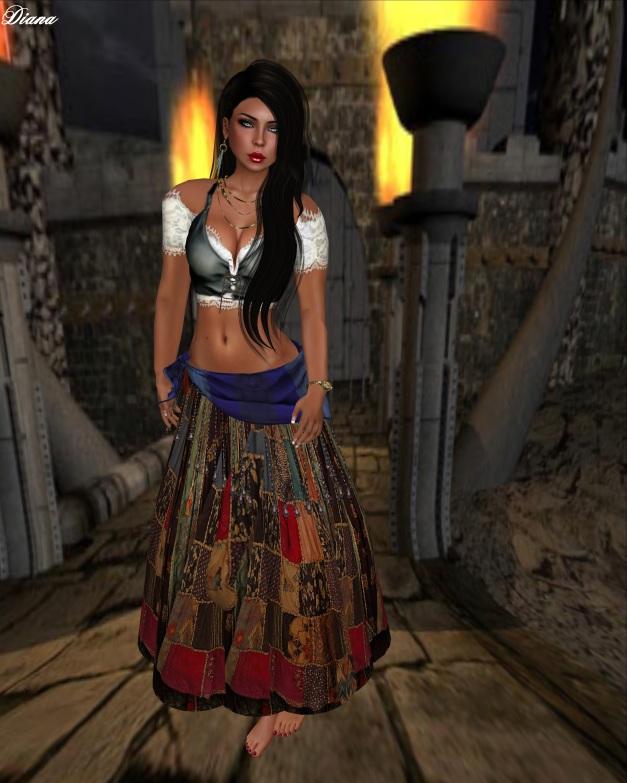 Hudson`s Clothing - Sweet Gypsy patchwork Dress Set-1