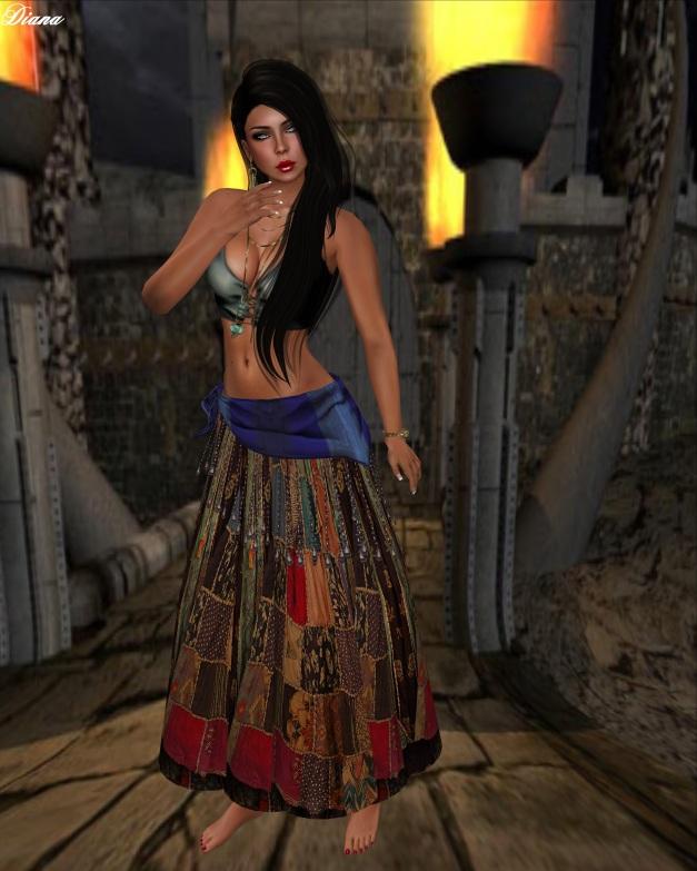 Hudson`s Clothing - Sweet Gypsy patchwork Dress Set-3