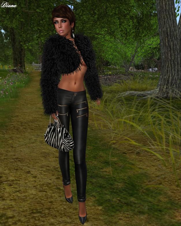 MG - Fur Bolero Yolanda (BlackBear)