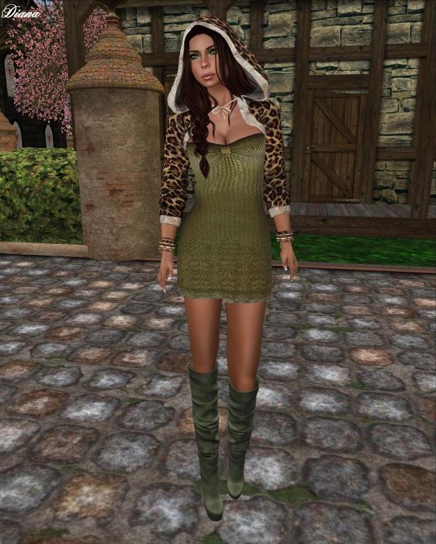 Mimikri - Valerie Strapless Dress (olive)-1