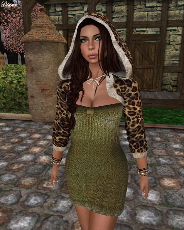 Mimikri - Valerie Strapless Dress (olive)-2