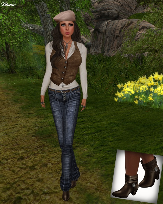Opium - Mesh Outsider Outfit BlueA
