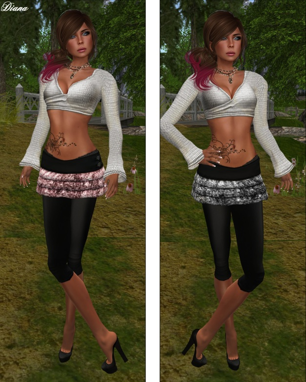 Paradisis - Birdy Glittering Skirt pink and silver