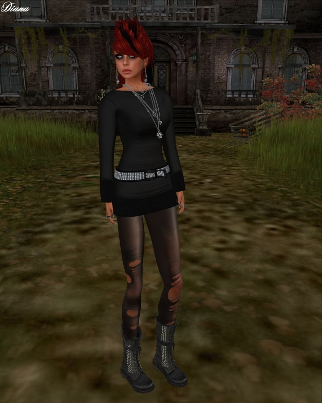 Razorblade Jacket - Punk Prom Dress (black)-1
