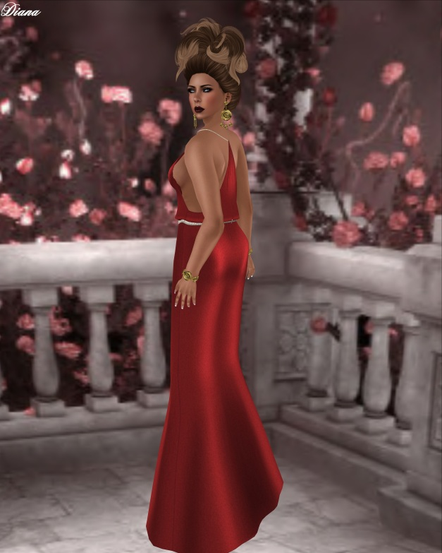 Rebel Hope - Vienna Mesh Gown Red Poppies