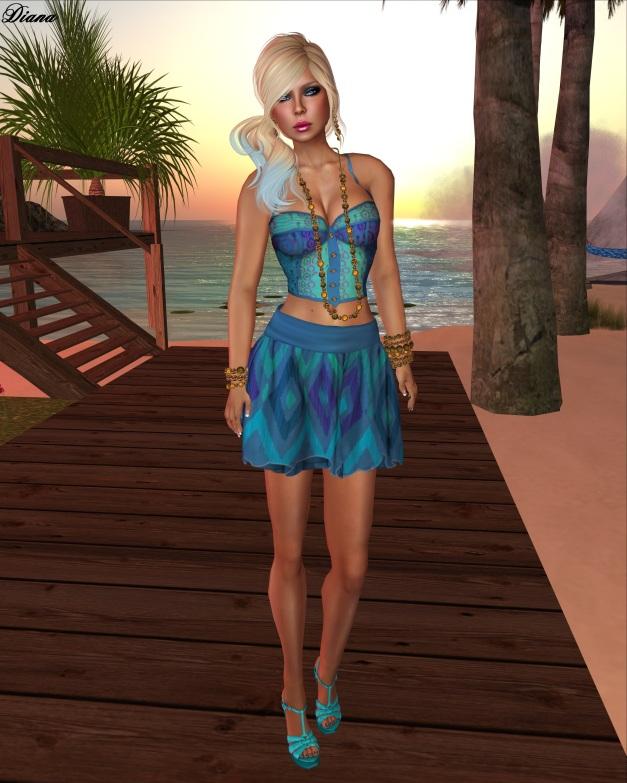 The Sea Hole - Pan Bahatt Bustier and Mesh Skirt-1