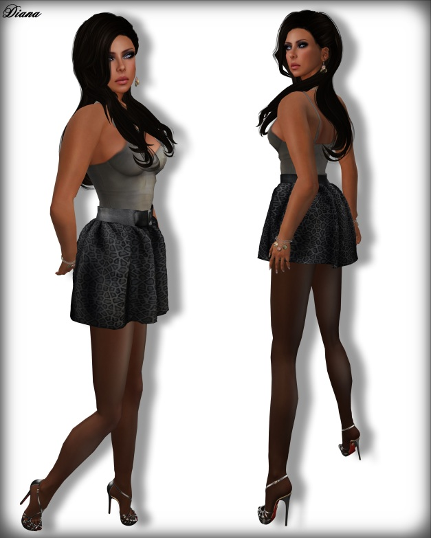 Apple May Designs - Mistie Top and High Waist Skirt