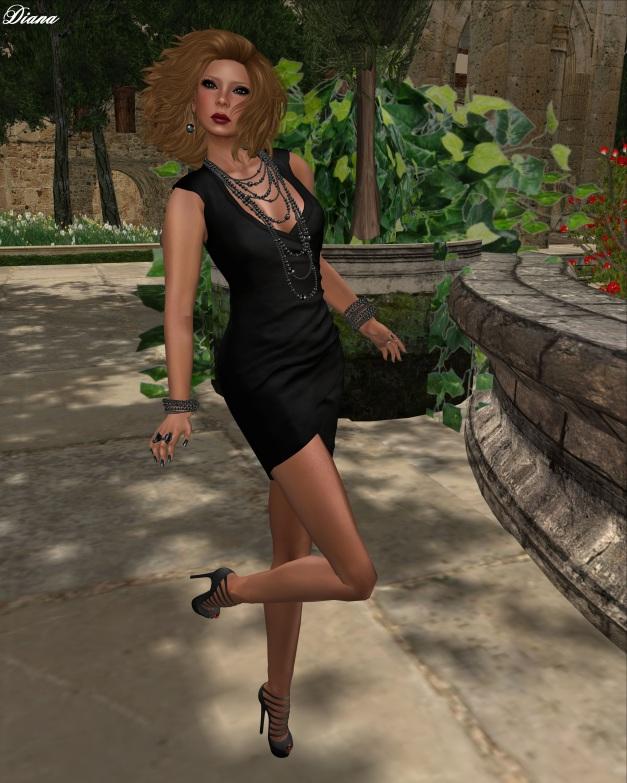 Cynful - Draped Dress - Suede Black