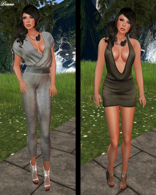 Legal Insanity - cher jumpsuit and Tay mini dress