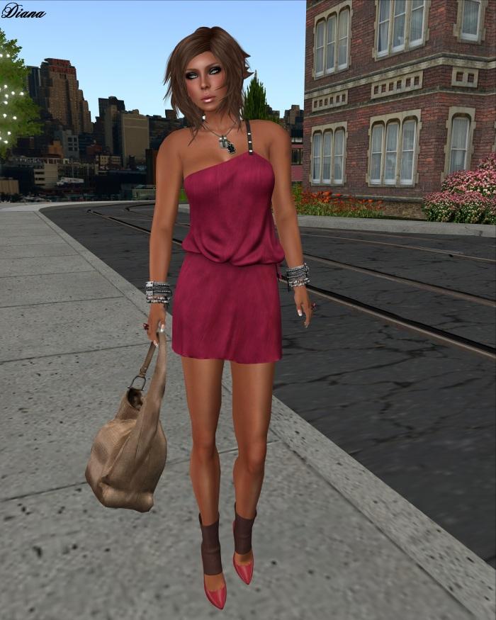Maitreya - Dakota Dress (Cherry Brushed-Chiffon)