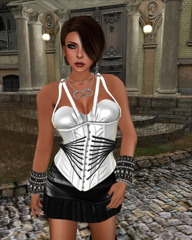 MayCreations - Strapped Corset Mesh white