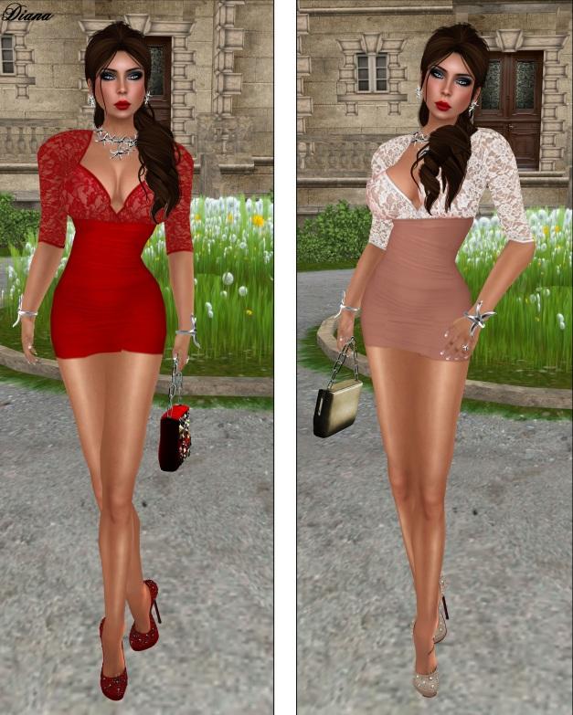 Mon Cheri - Cutout Lace Top Dress-1
