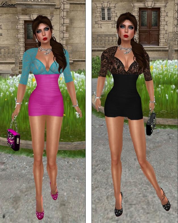 Mon Cheri - Cutout Lace Top Dress-2
