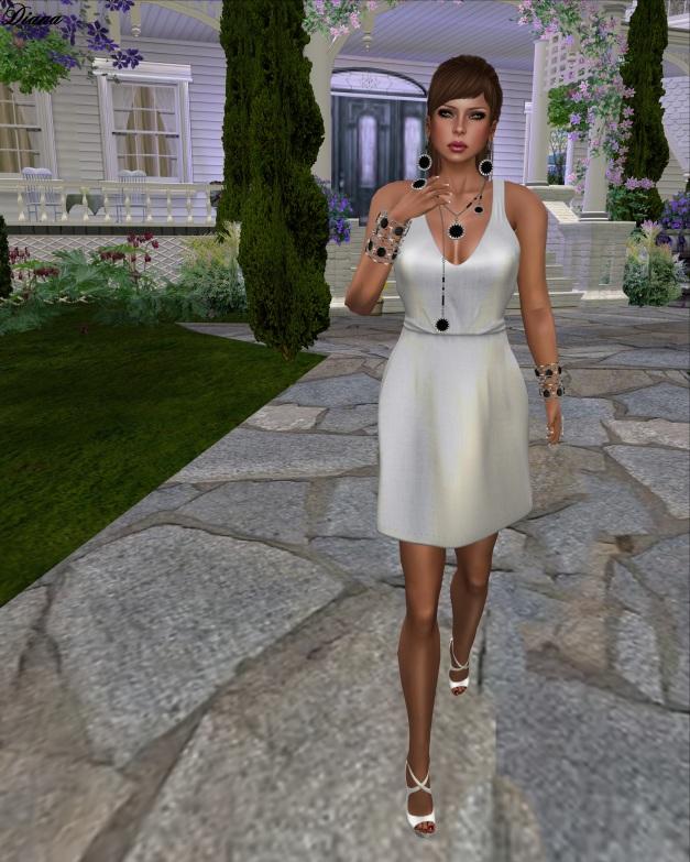 Rebel Hope - Casie Mesh Jumper Dress Linen White