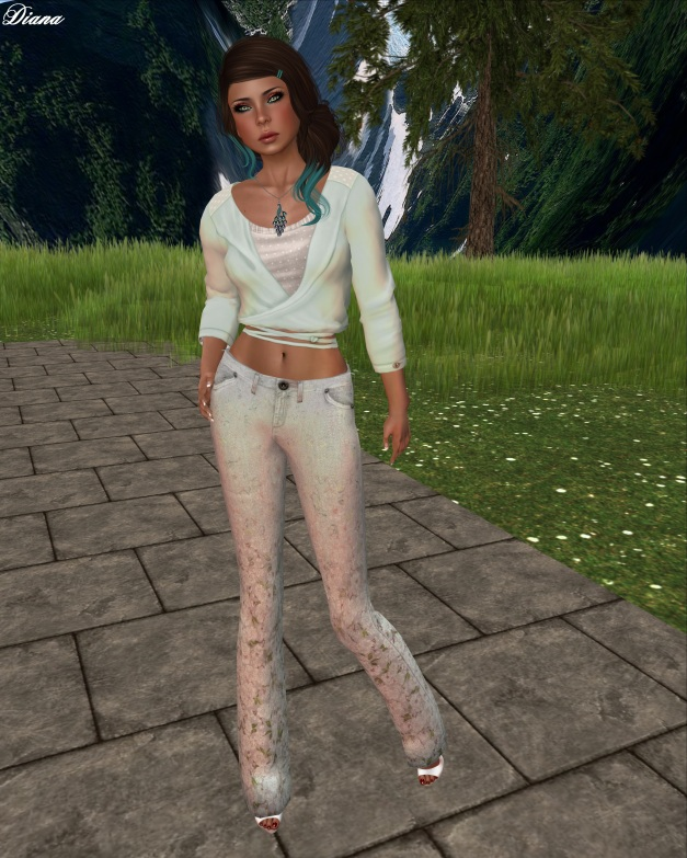 The Sea Hole - New Romance(Mesh Wrap Blouse and Jeans