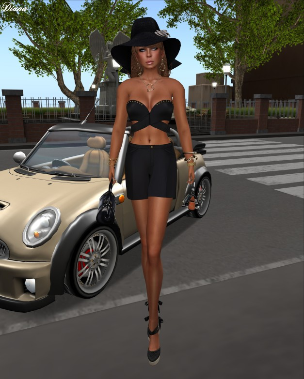 Baiastice - Kasia Top and Short black