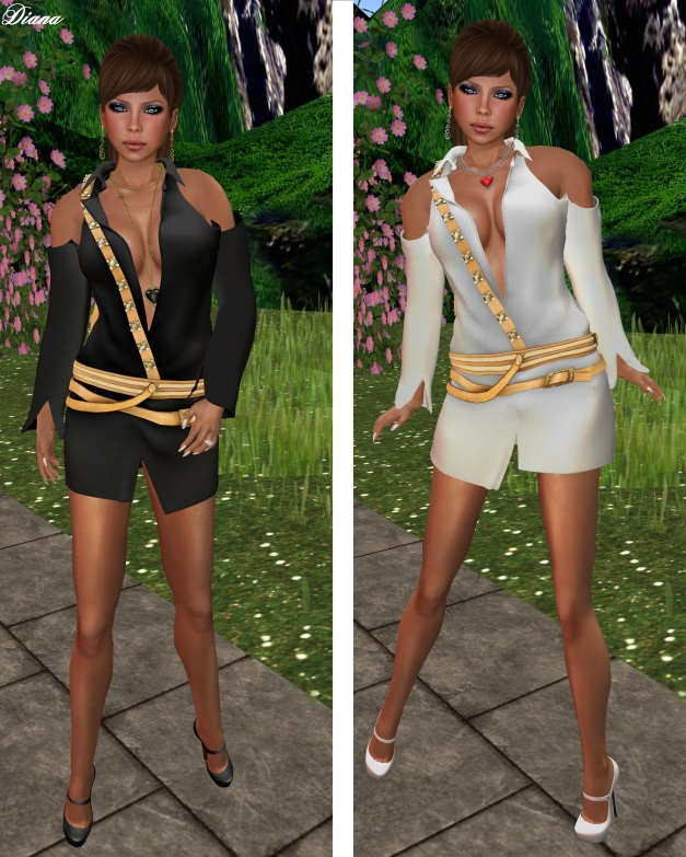 Gabriel - Mesh Bareback Dress black and white