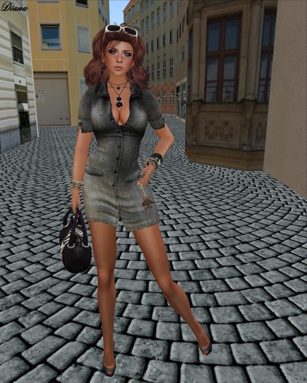 GizzA - Cindy Dress Black Denim