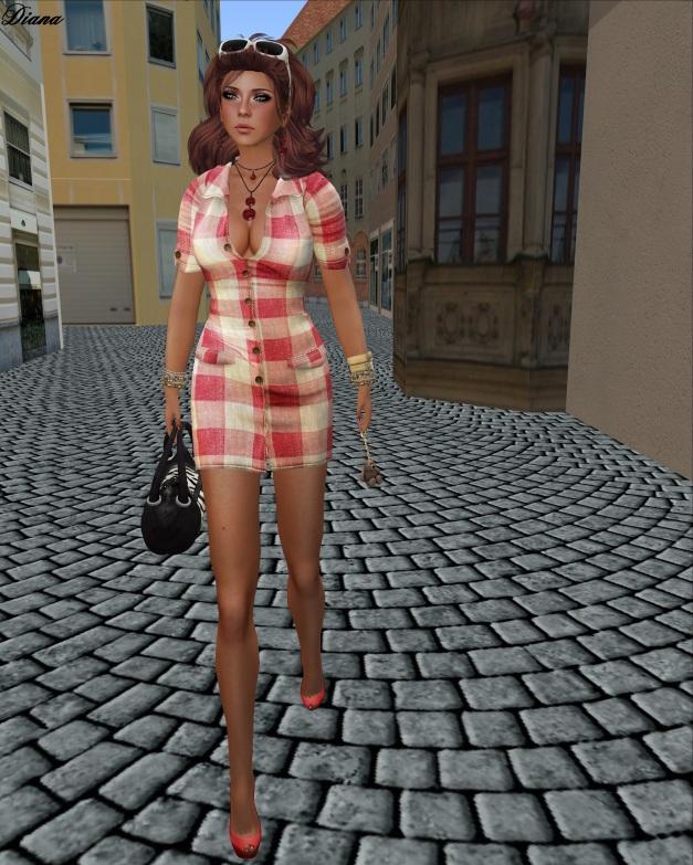 GizzA - Cindy Dress Plaid Cotton Red