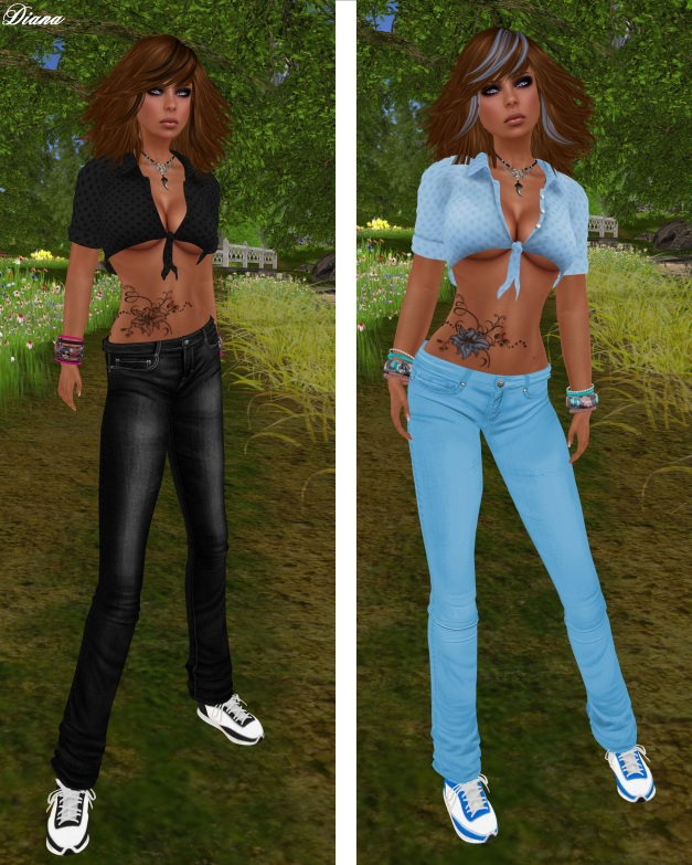 Immerschoen - Mesh Summer Outfit black and blue