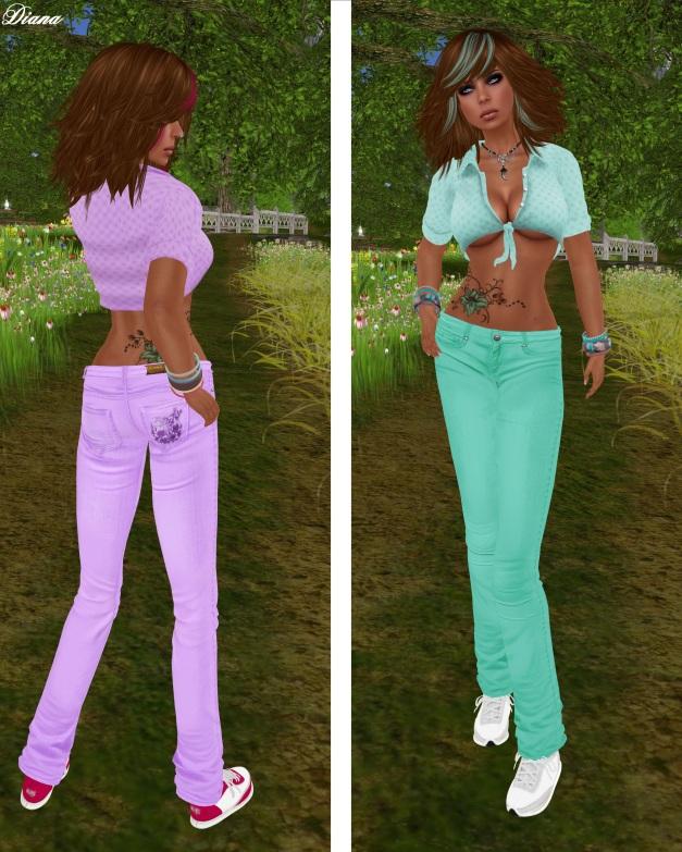 Immerschoen - Mesh Summer Outfit lilac and mint