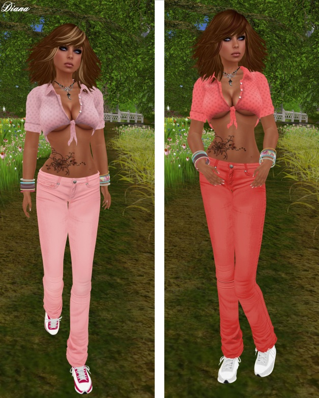 Immerschoen - Mesh Summer Outfit pink and red