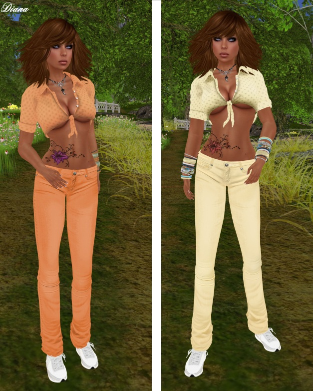 Immerschoen - Mesh Summer Outfit salmon and yellow