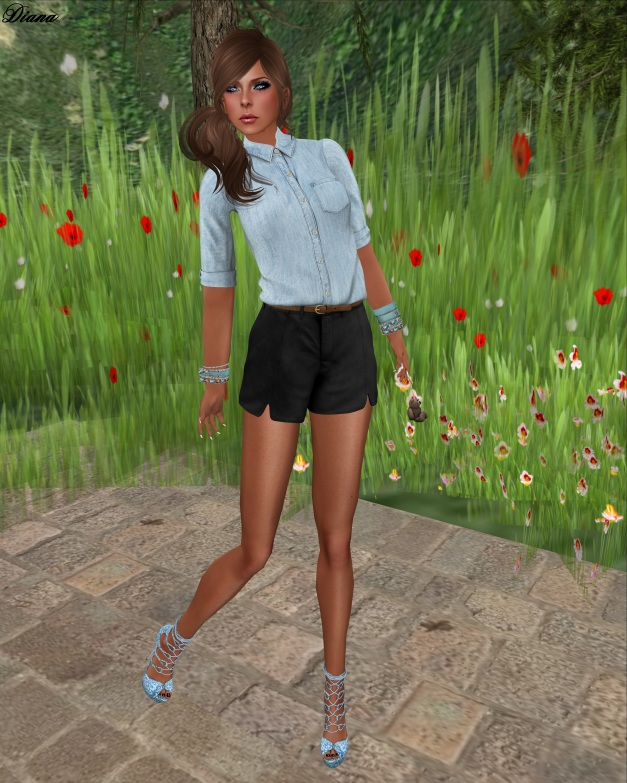 mon tissu - Collared Shirt and Tulip Shorts-1
