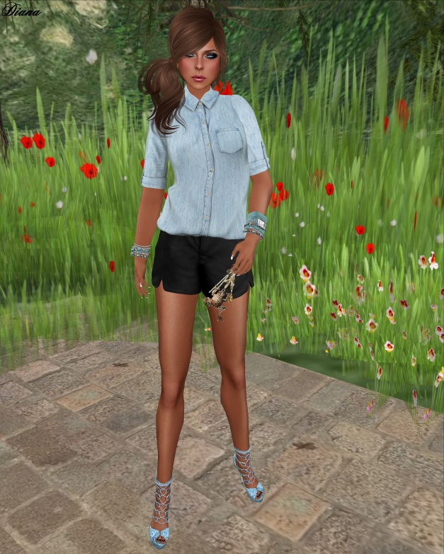 mon tissu - Collared Shirt and Tulip Shorts-2