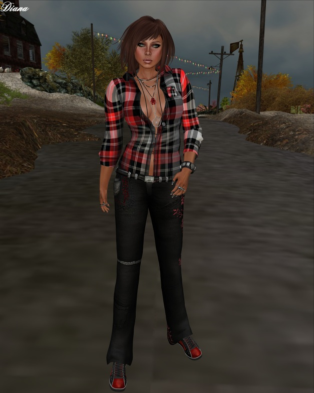 Son!a - Gaia Mesh Shirt and Maly Mesh Jeans