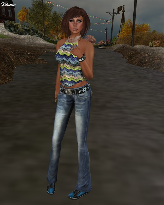 Son!a - Vogue Mesh Top and Vogue Mesh Jeans+Belt