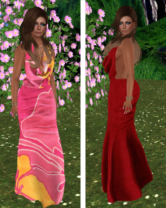 Torn - Maxi Floral and Red