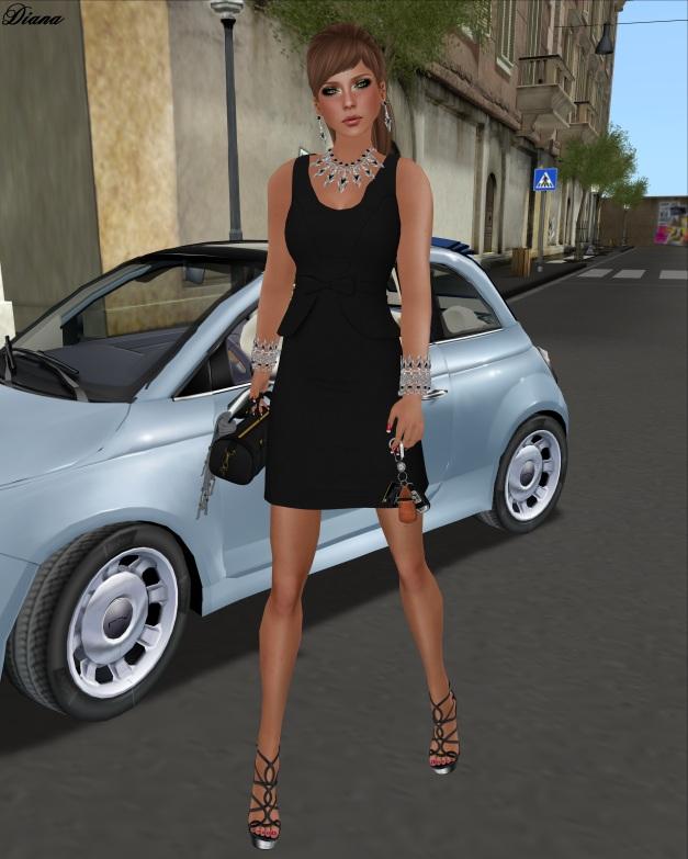 CM - Wool Peplum Dress (black)-1