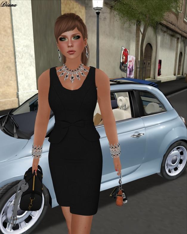 CM - Wool Peplum Dress (black)-2