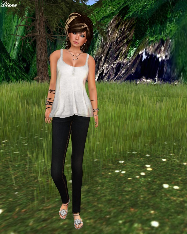 Color.Me.H.O.F Mesh Basic Tank and monso My First Jeans-1