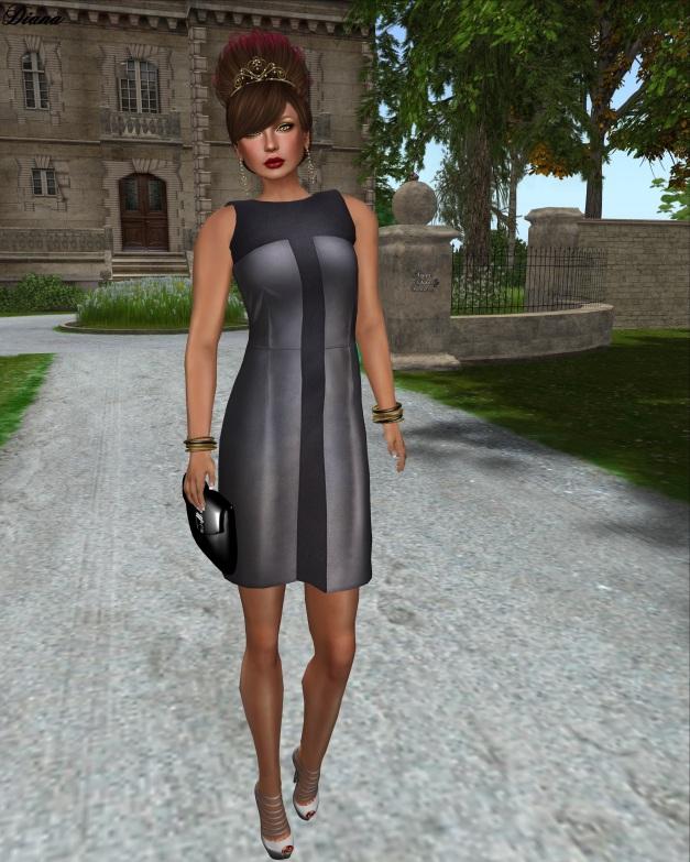 erratic - stacey panel dress (steel)-1