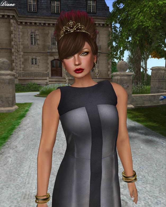 erratic - stacey panel dress (steel)-2