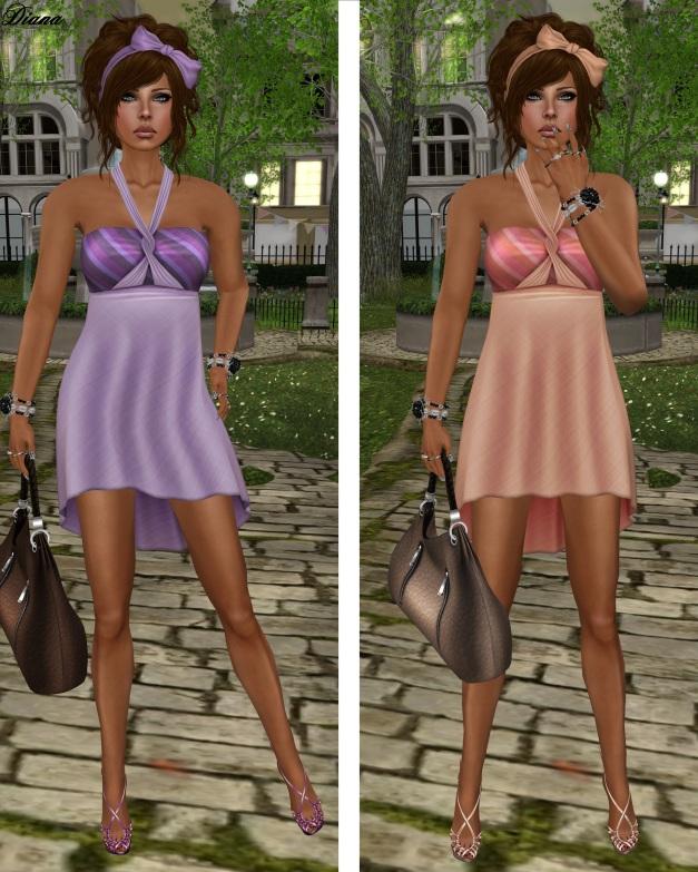 !Rebel Hope - Christy Mesh Dress lavender and peach