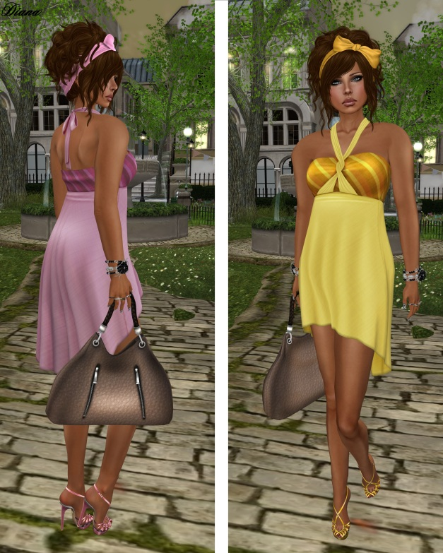 !Rebel Hope - Christy Mesh Dress pink and yellow