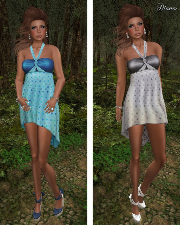 !Rebel Hope - Kelly Mesh Dress Anemone and Stone