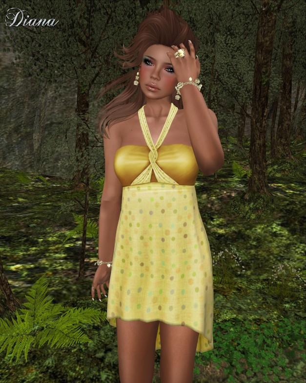 !Rebel Hope - Kelly Mesh Dress Lemon