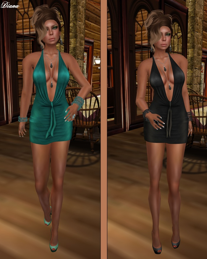 !Rebel Hope - Traci Mesh Mini Dress Aqua and Charcoal