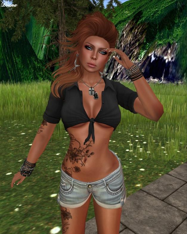 Sassy! - Cali Cutie top and Cuffed denim shorts-2