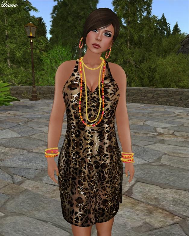 TuttiFrutti - Coralina Mesh Knit Dress WildLife