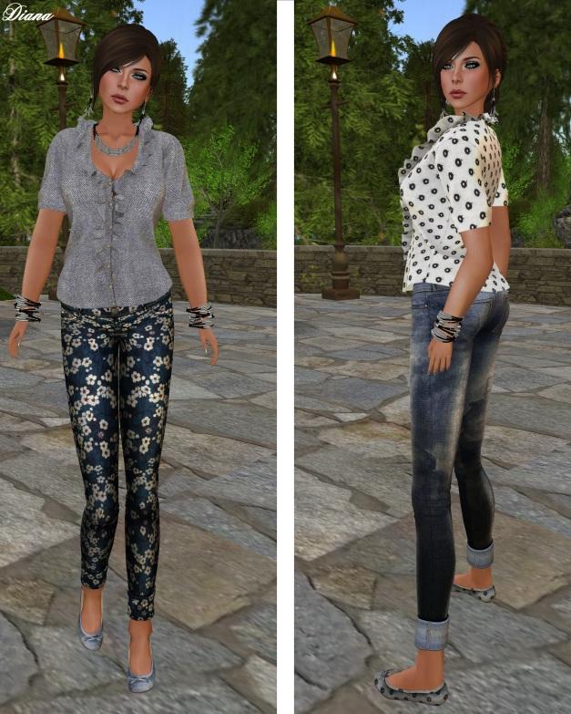 TuttiFrutti - Seraphina Mesh Shirt and Denim Mesh Jeans