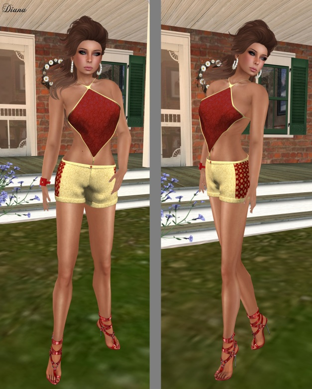 22769 - Sabita Top and Indian Styled Hot Pants