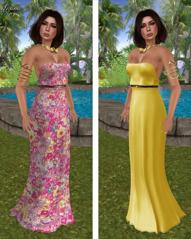 Baiastice - Hina Maxi Dress print floral summer and lemon