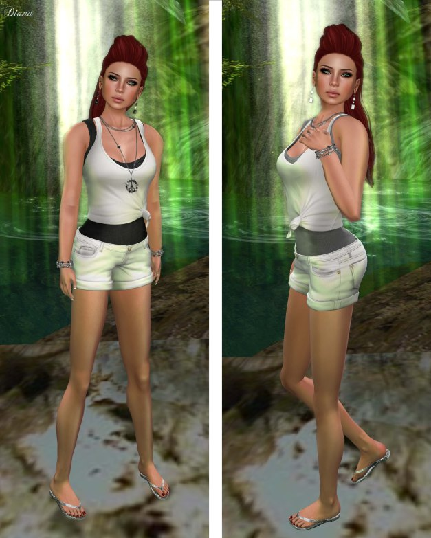 erratic -  cary double tank whites and briony shorts white