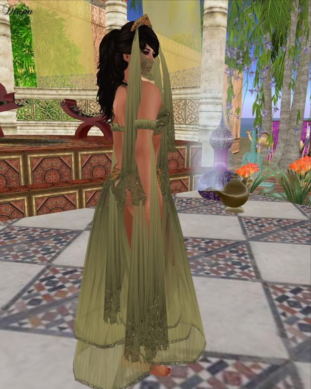 Hudson`s Clothing - Arabian Nights Green Silks Gift-2