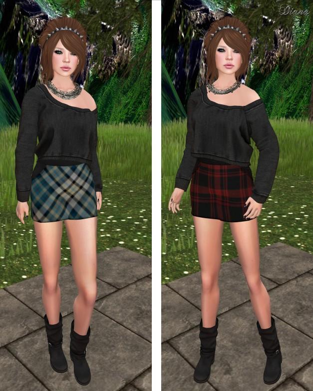 Poised - Six Mesh High Waist Mini Skirt-1